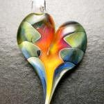 Heart Pendant - Glass Lamp..