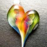 Heart pendant - Glass lampw..